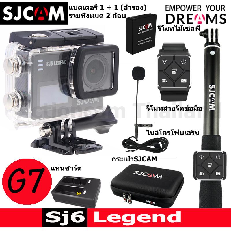 SJCAM SJ6 LEGEND + Battery + DualCharger + BAG(L) + RemoteSelfie + RemoteBand + ExternalMic