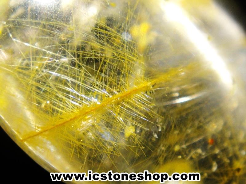 =โปรโมชั่น= พลอยไหมทอง Golden Rutilated Quartz (54.5ct.)