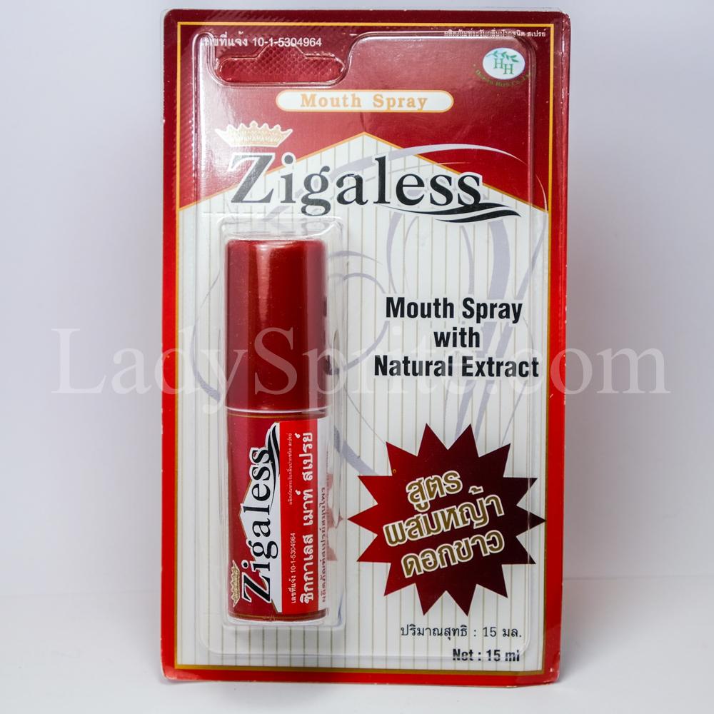 Zigaless Mouth Spray 15ml ซิกกาเลส สเปรย์ดับกลิ่นปาก และลดความอยากบุหรี่
