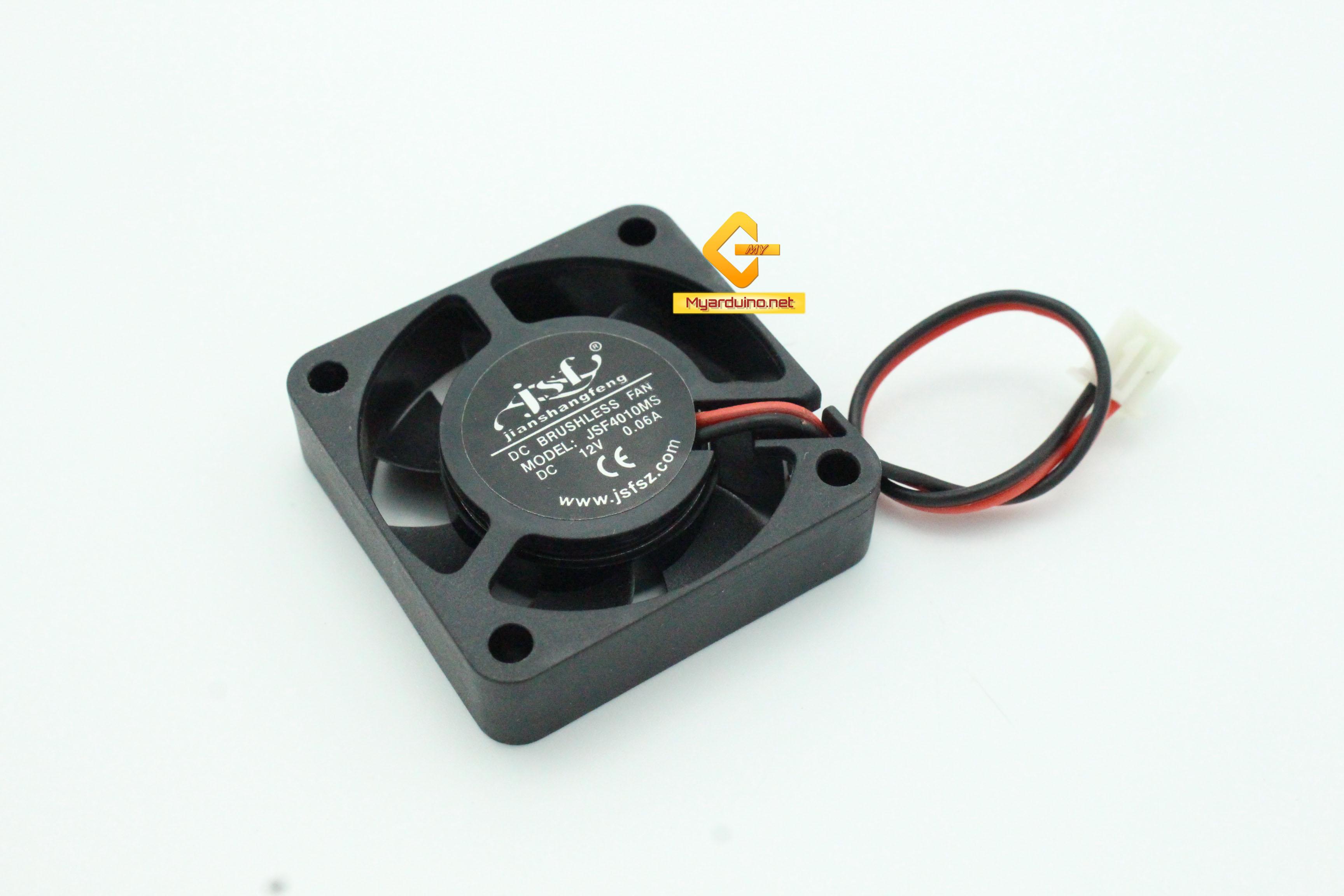 พัดลมระบายความร้อน 2สาย 4cm*4cm 12V