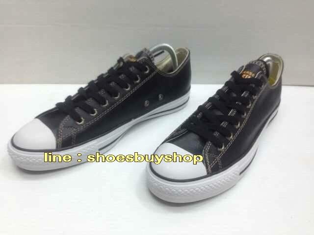 รองเท้า converse หนัง สีดำ