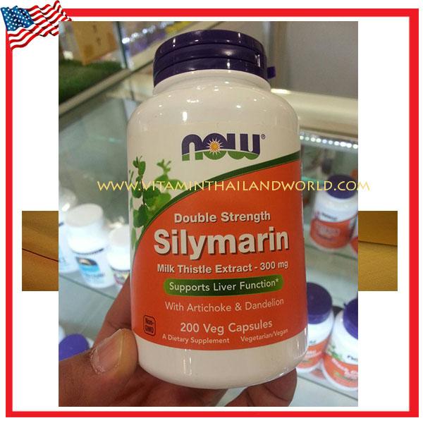 Silymarin Milk Thistle Extract 300 mg. 200 Vegetarian Capsules