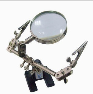 Third Hand Tool with Magnifying Glass ตัวช่วยจับแผ่นปริ๊น ที่จับแผ่นปริ๊น