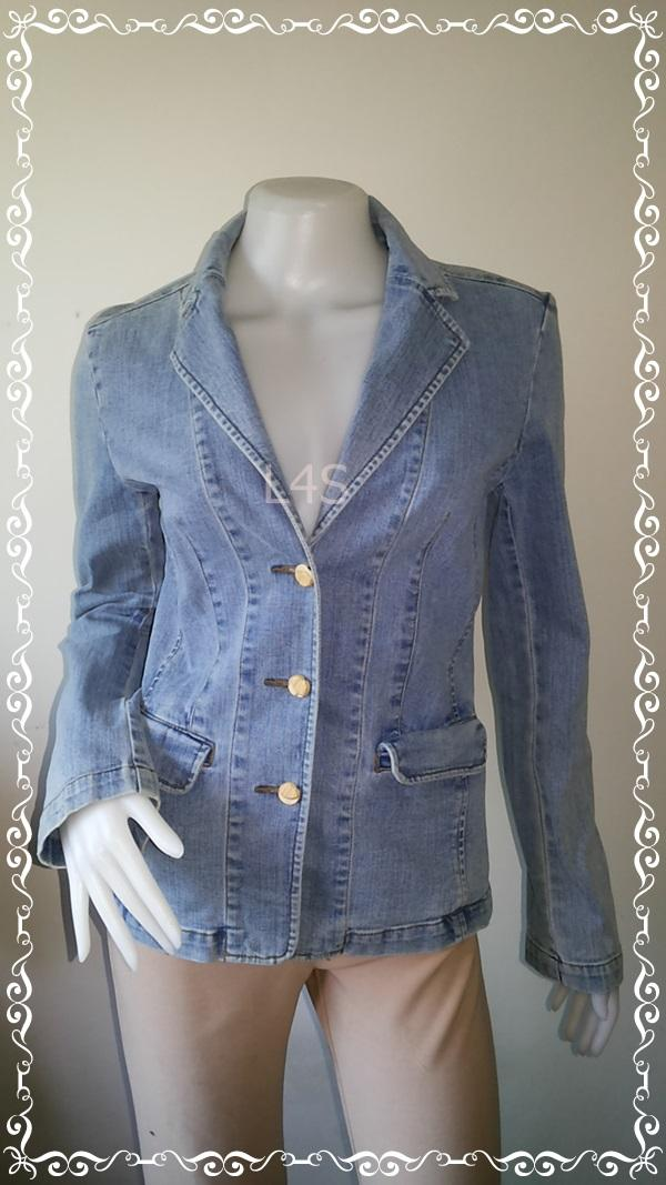 Jeans0040--เสื้อยีนส์ นำเข้า FASHION THAT อก 33-34 นิ้ว