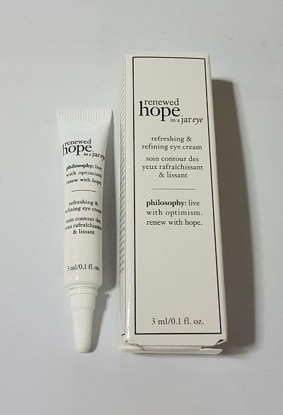 Philosophy renewed hope in a jar eye refreshing & refining eye cream [3ml][In Box]