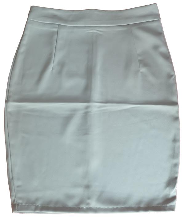 กระโปรงผ้าฮานาโกะ ทรงดินสอ สีเทา Size S M L XL