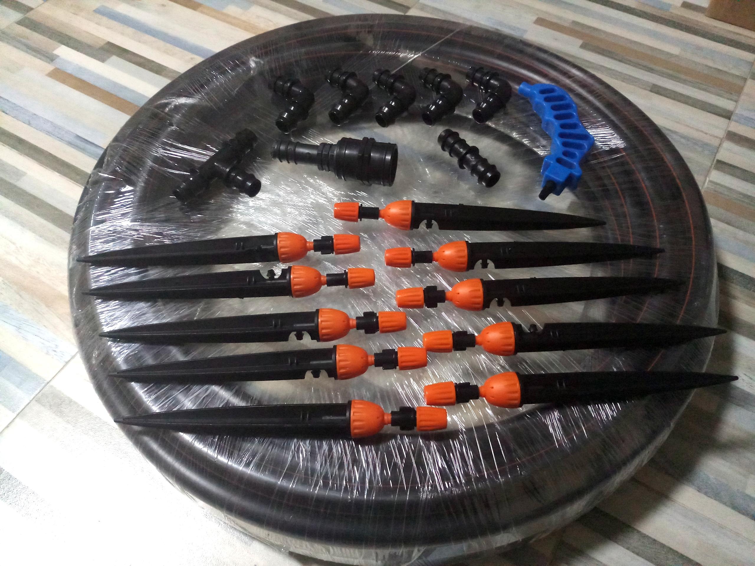 ชุดหัวพ่น 2in1 ท่อ PE 20มม 10 หัว สาย 20เมตร