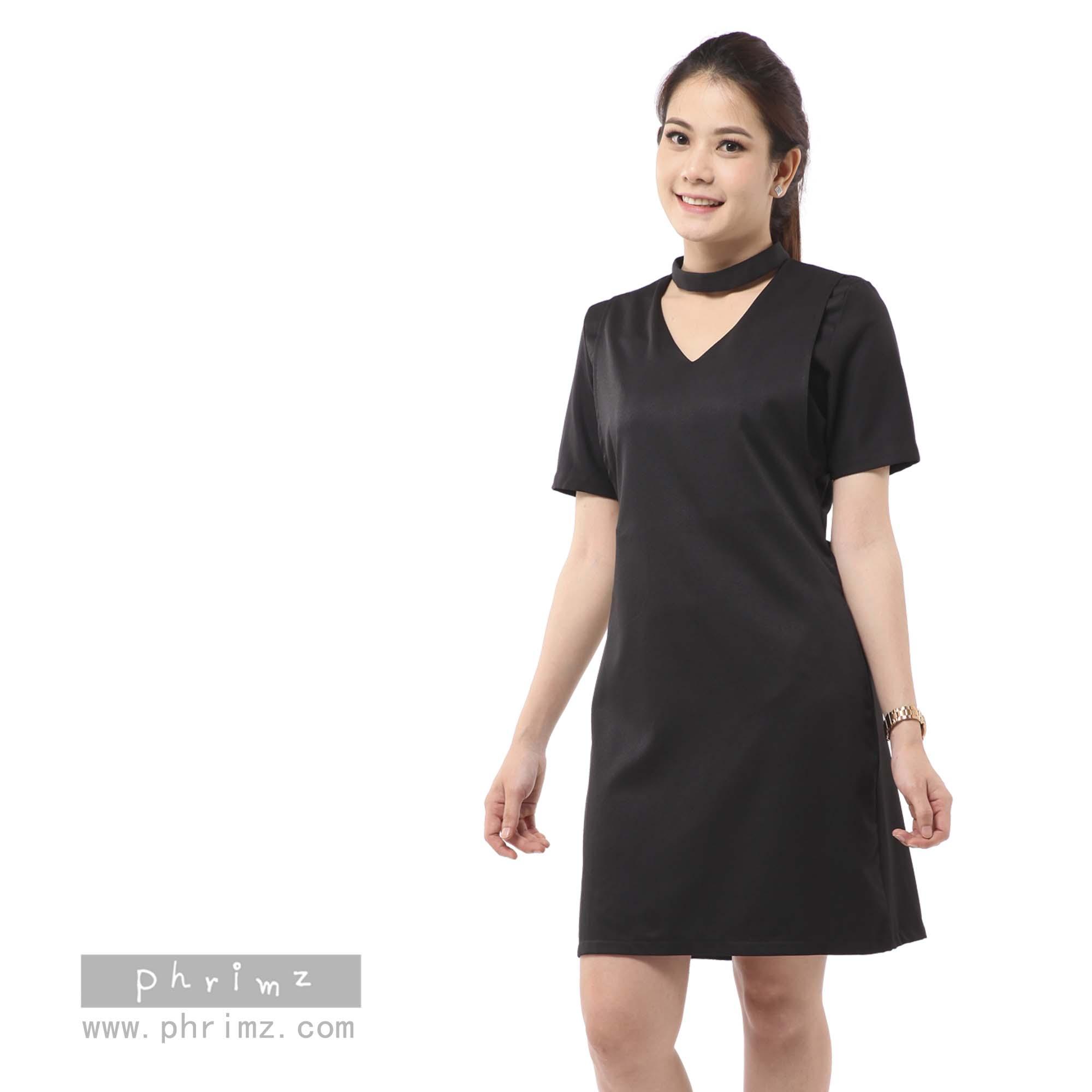 ชุดให้นม Phrimz : Cedra Breastfeeding Dress - Black