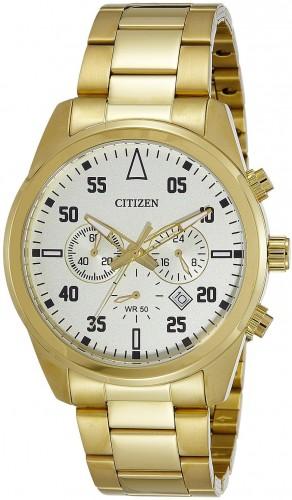 นาฬิกาข้อมือผู้ชาย Citizen รุ่น AN8092-51P, Quartz Chronograph Elegant Gold