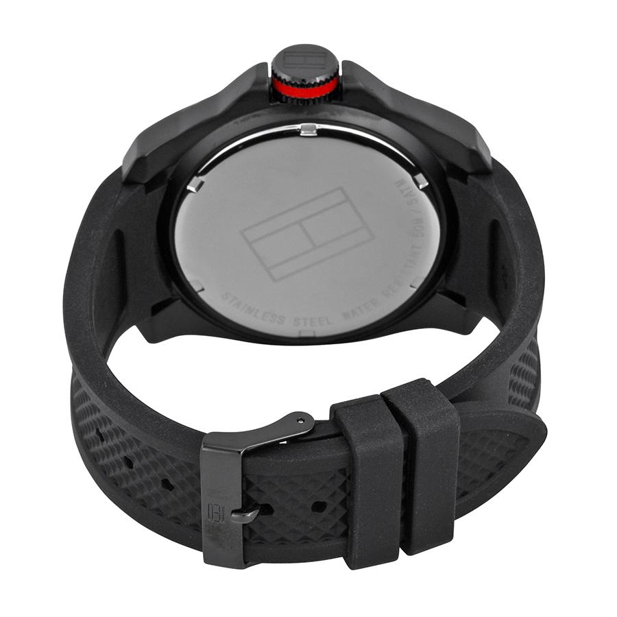 Tommy Hilfiger 1790708 Black Dial Silicone Orient Combat Fnr1h003b0 Ladies
