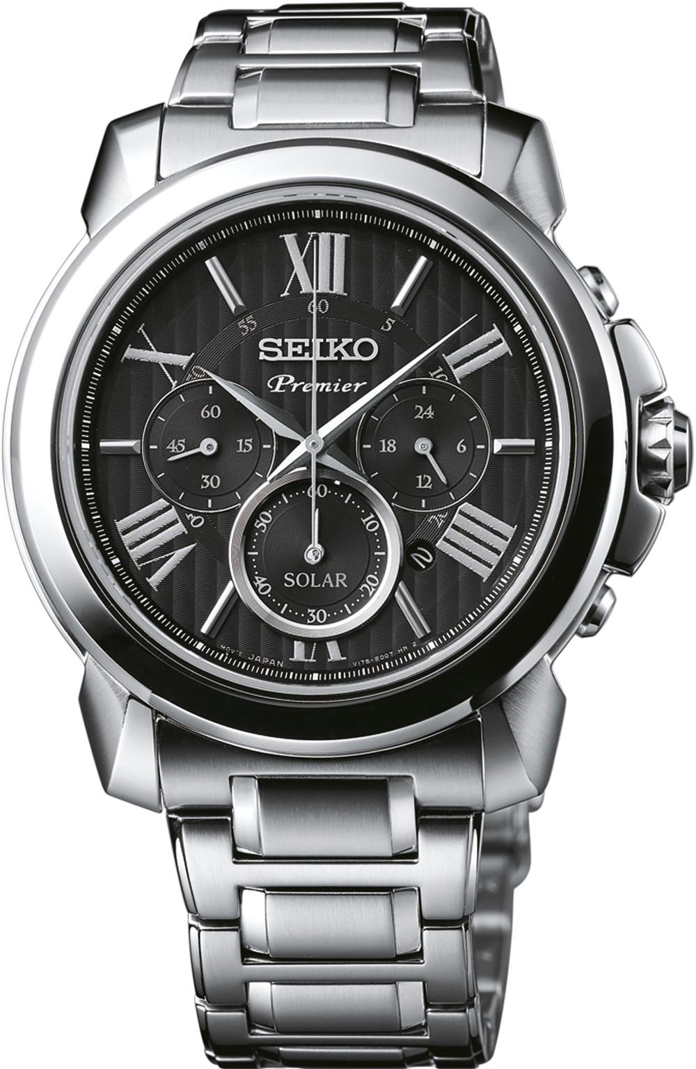 นาฬิกาผู้ชาย Seiko รุ่น SSC597P1, Premier Solar Chronograph