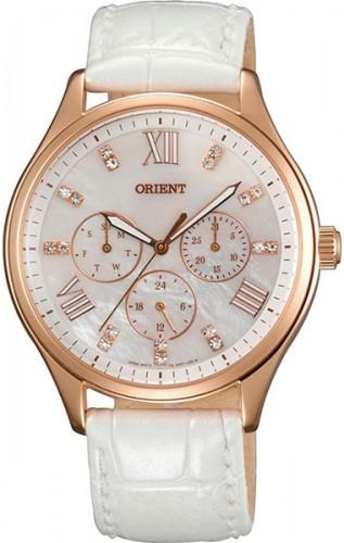 นาฬิกาผู้หญิง Orient รุ่น SSW05002W0, Quartz Crystal Multi-Dial Mother Of Pearl Elegant Watch