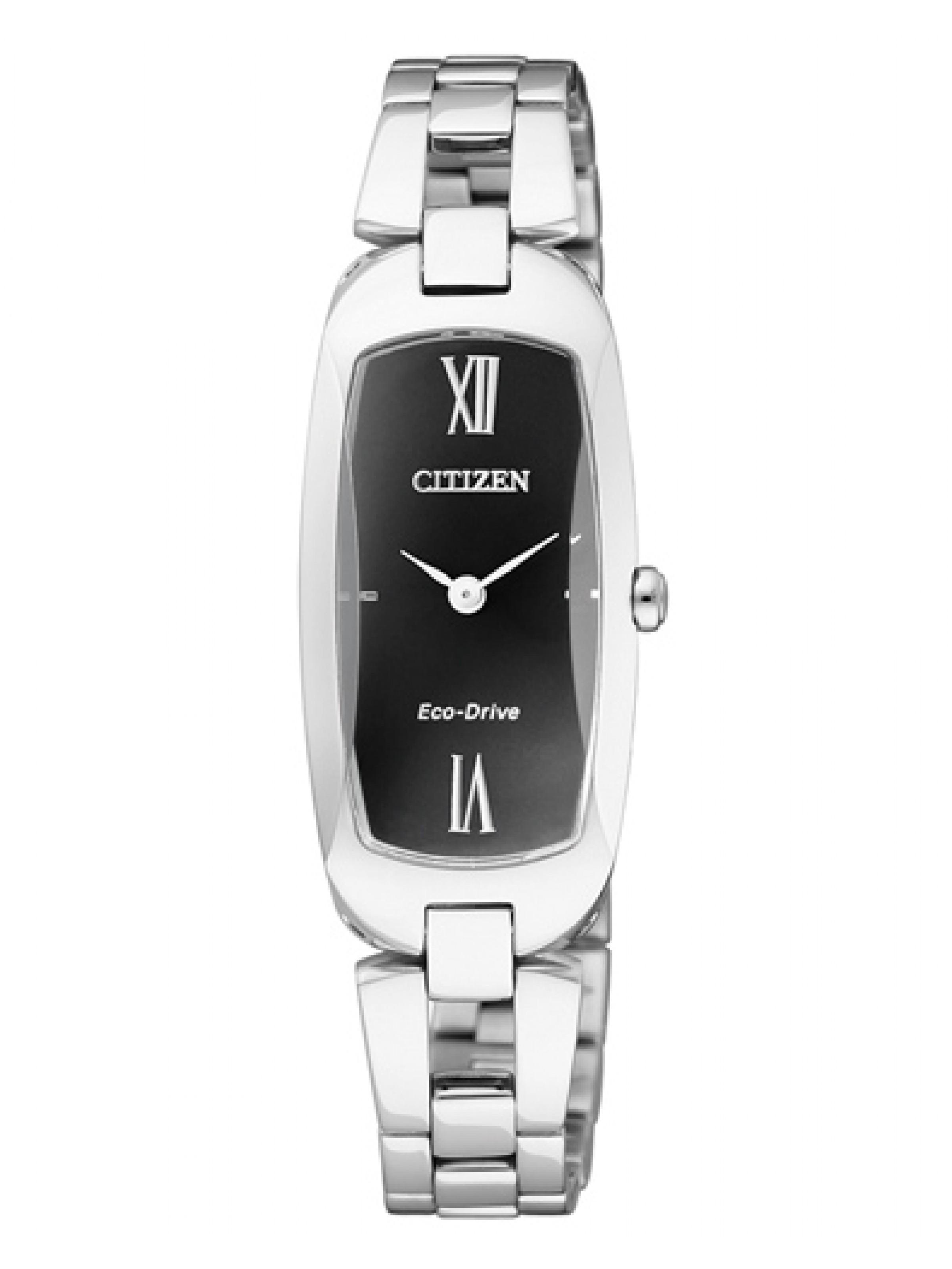 นาฬิกาข้อมือผู้หญิง Citizen Eco-Drive รุ่น EX1100-51E, Analog Black Dial