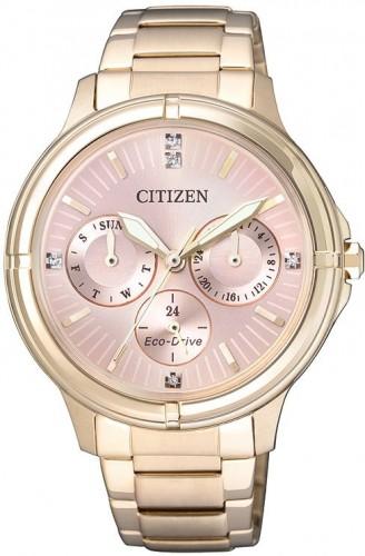 นาฬิกาผู้หญิง Citizen Eco-Drive รุ่น FD2033-52W, Swarovski Crystal Multi Dial Elegant