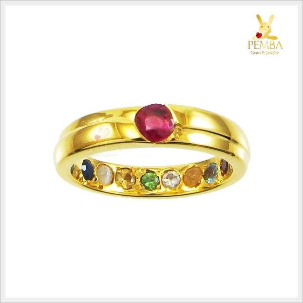 แหวนนพเก้า ทองแท้ เสริมมงคลชีวิตทุกด้าน (สอบถามราคา)