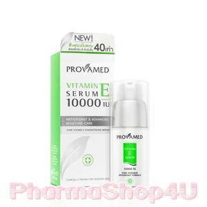 Provamed Vitamin E Serum 10000IU 30mL เซรั่มเข้มข้น ช่วยฟื้นฟูผิวเป็นพิเศษด้วยวิตามินอีเข้มข้น 40เท่า กระตุ้นการสร้างเซลล์ผิวใหม่ ลดเลือนจุดด่างดำและรอยแผลเป็น
