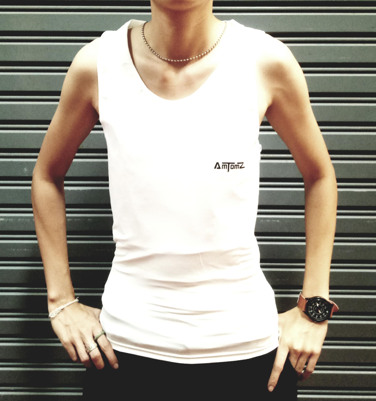 เสื้อกล้ามทอม Long Dri-Cool (สีขาว)