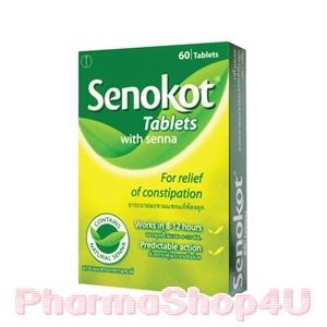 Senokot with senna 60 Tablets เซโนคอต มะขามแขกจากธรรมชาติ ช่วยแก้ท้องผูก กระตุ้นขับถ่าย