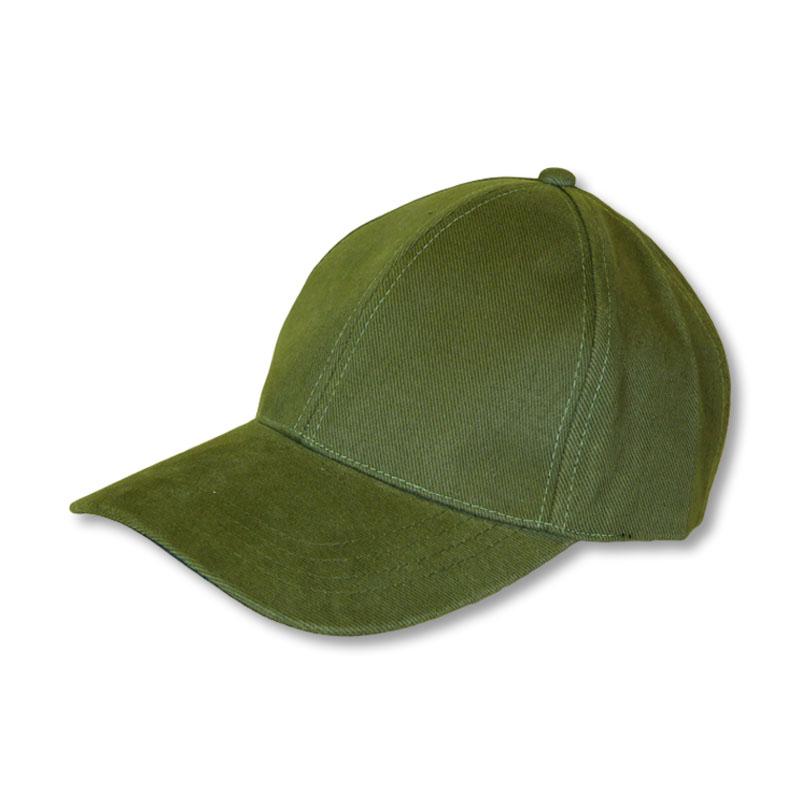 หมวกแก๊ปเปล่า สีพื้น สีเขียวขี้ม้า