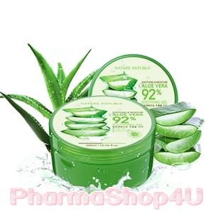 Nature Republic Soothing & Moisture Aloe Vera 92% Soothing Gel 300mL เจลอโรเวล่า 92% ให้ความชุ่มชื่นสู่ผิว ช่วยกักเก็บความชุ่มชื่นให้ผิวดูอิ่มน้ำ