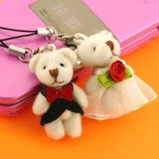 พวงกุญแจคู่รัก ชุดหมีแต่งงาน มี 2 ชิ้นในเซ็ต