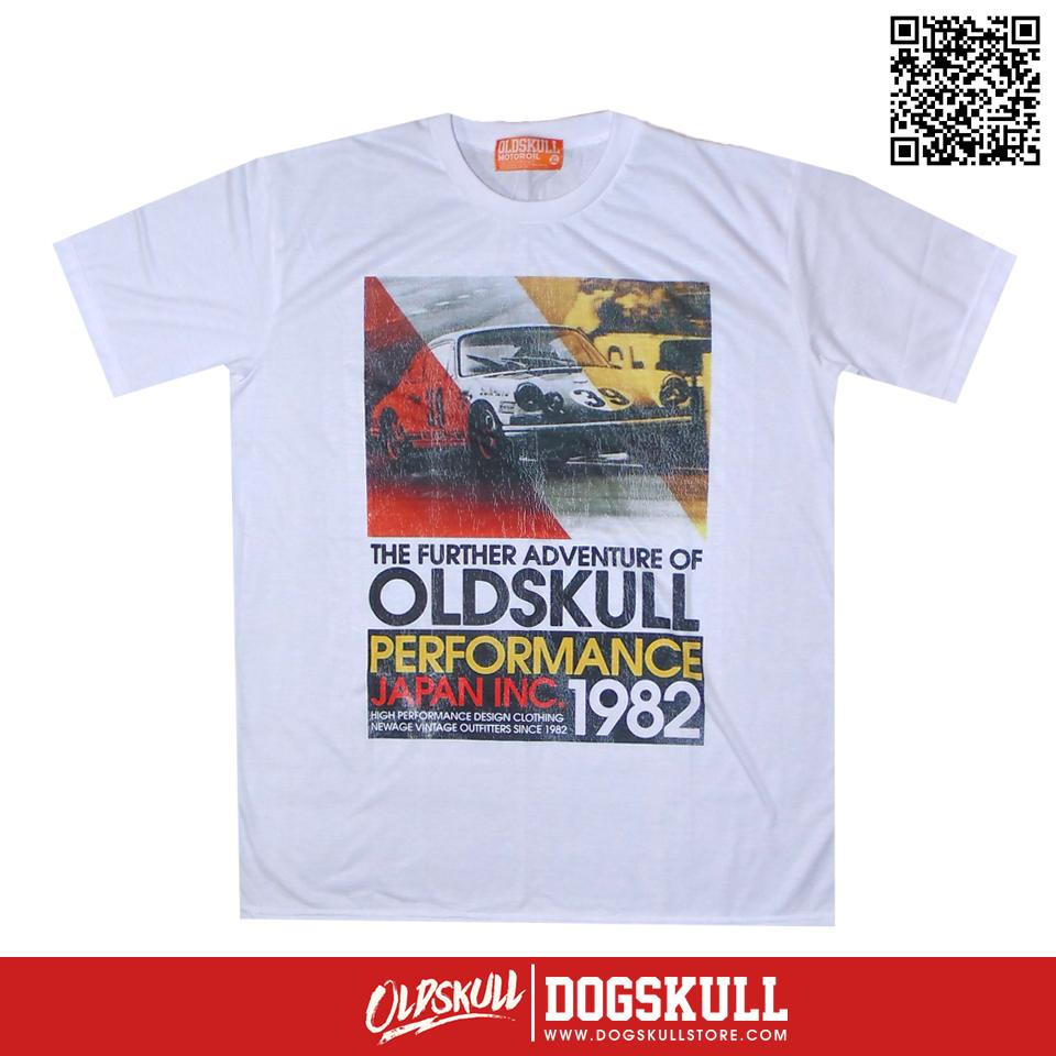 เสื้อยืด OLDSKULL : EXPRESS 38   WHTE XL