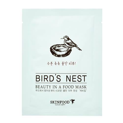 Skinfood Beauty in A Food Mask Sheet #BIRD'S NEST สารสกัดจากรังนก ช่วยให้ผิวหน้าอ่อนเยาว์ ลดเลือนริ้วรอย