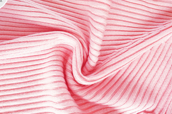 เสื้อกันหนาวไหมพรมผู้หญิง สีม่วง คอกลม ตัวสั้น ดีเทลลายทางตรง เนื้อผ้ายืดหยุ่นได้ เนื้อนิ่ม