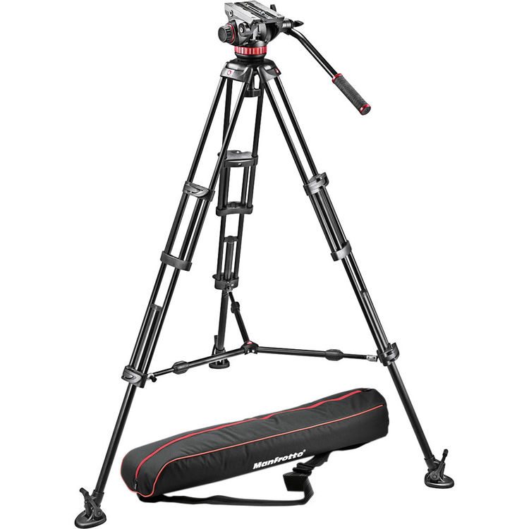 Manfrotto MVH502A Fluid Head and 546BK Tripod System with Carrying Bag