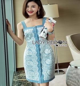 Lady Ribbon Denim Dress