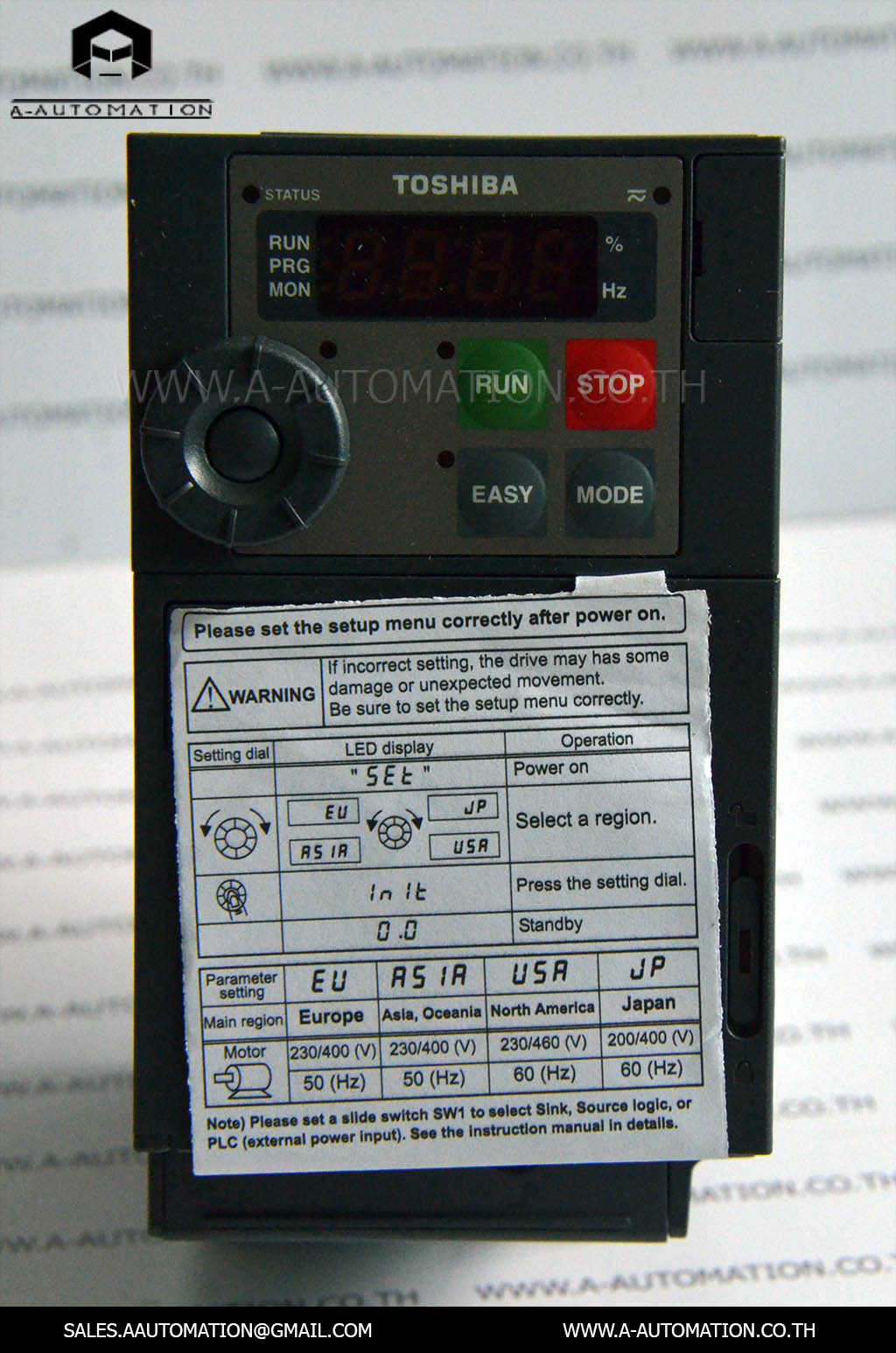 INVERTER MODEL:VFS15-2007PM-W [TOSHIBA]