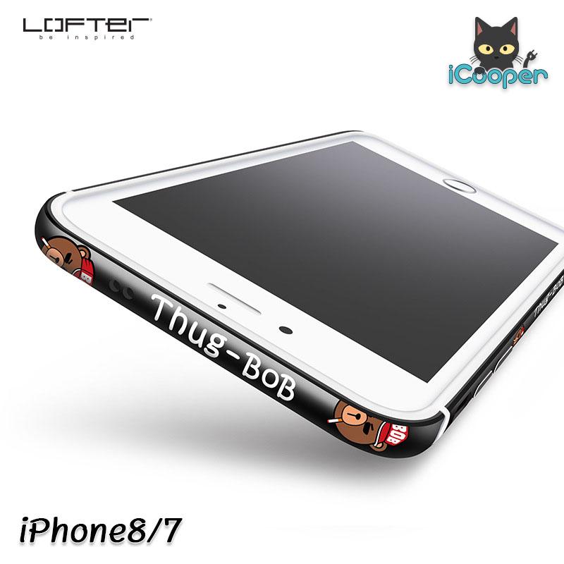 LOFTER Aluminium Bumper - Thug BOB Black (iPhone8/7)
