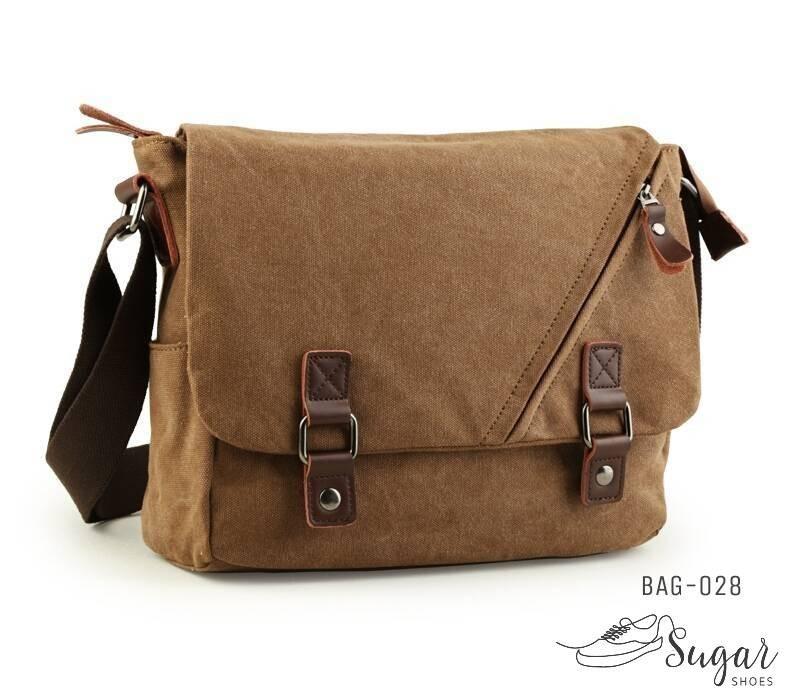 พร้อมส่ง กระเป๋าสะพายผู้ชาย-BAG-028 [สีน้ำตาล]