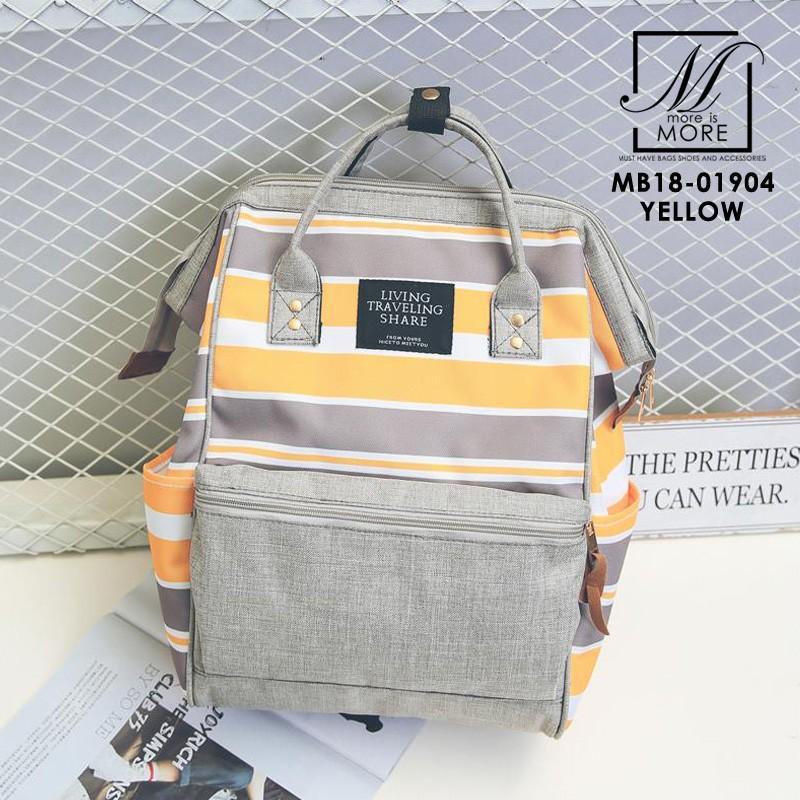 กระเป๋าเป้แฟชั่นงานนำเข้าสไตล์แบรนด์ดัง MB18-01904-YEL (สีเหลือง)