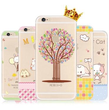 เคสลายการ์ตูน (ยางใส) - iPhone6+