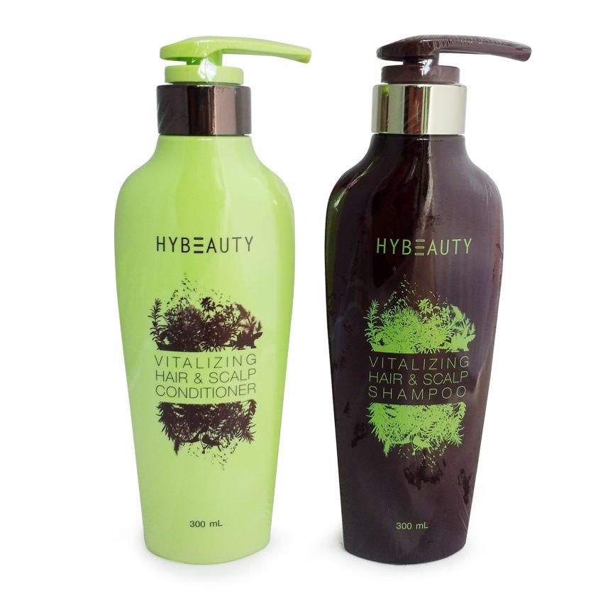 HyBeauty Vitalizing Hair Scalp Shampoo and Conditioner ศูนย์จำหน่ายราคาส่ง ดูแลเส้นผม จากสมุนไพรธรรมชาติแท้ ส่งฟรี