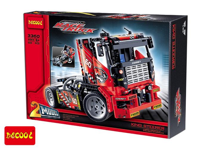 3360 ตัวต่อ King Steerer หัวลากรถบรรทุก Race Truck ต่อได้ 2 แบบ
