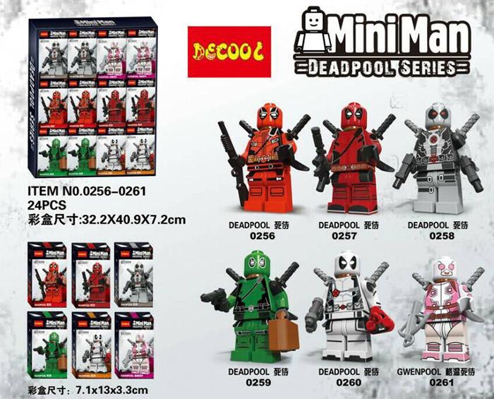 0256-0261 Deadpool มินิฟิกเกอร์เดดพูล MiniMan เซ็ต 6 กล่อง