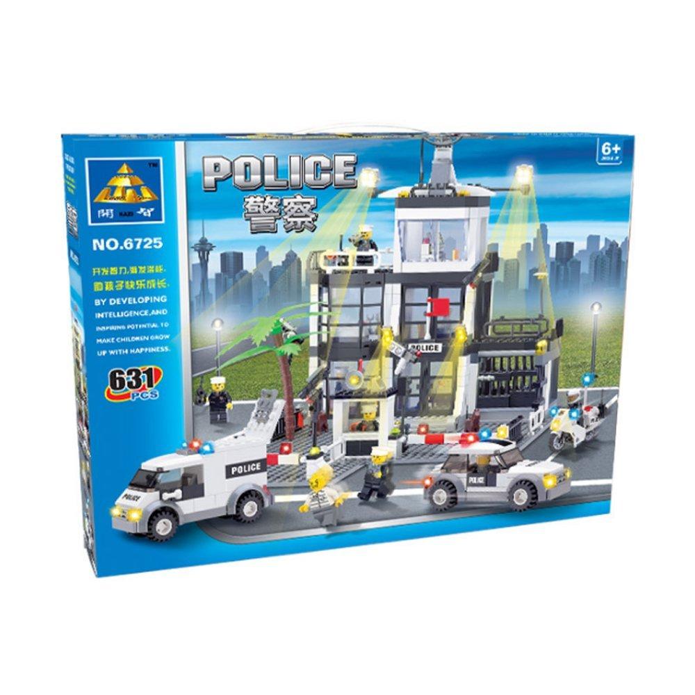 6725 ตัวต่อสถานีตำรวจ City Police Station และหน่วยปฏิบัติการณ์