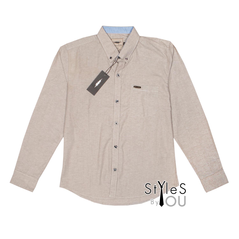 เสื้อเชิ้ต แฟชั่น สีพื้น สีน้ำตาลท๊อปดราย Pastel Shirt แขนสั้นและแขนยาว