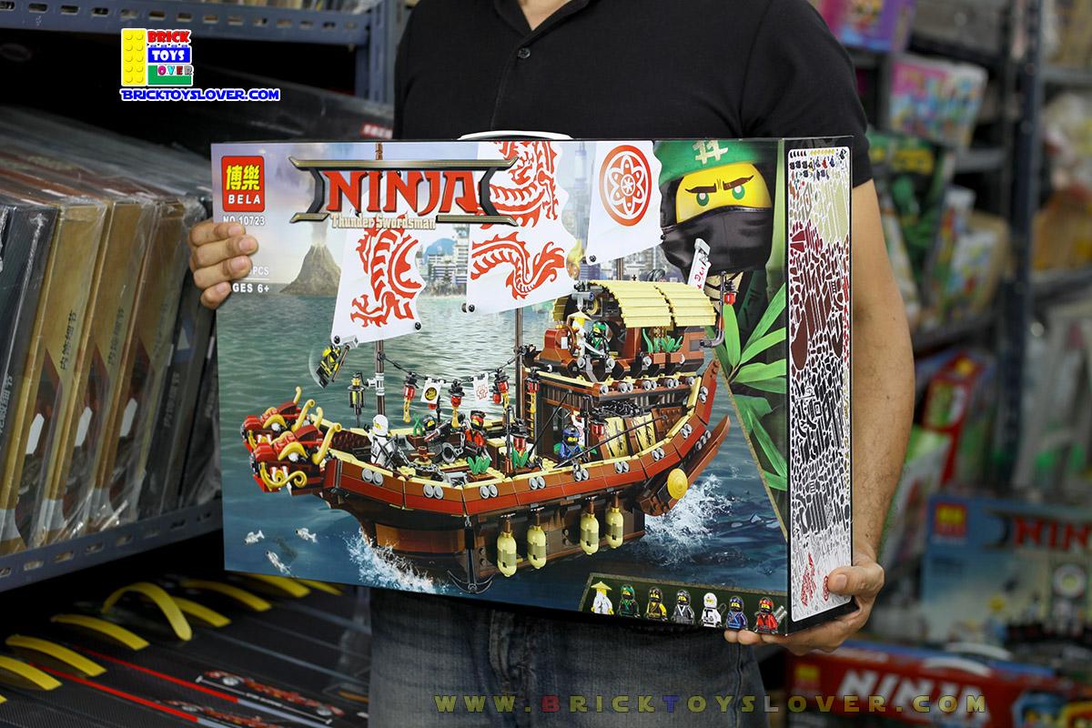 10723 ของเล่นตัวต่อ Ninja เรือรบมังกร Destiny Bounty