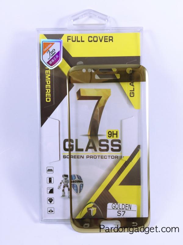 ฟิล์มกระจก S7 เต็มจอสีทองเงา