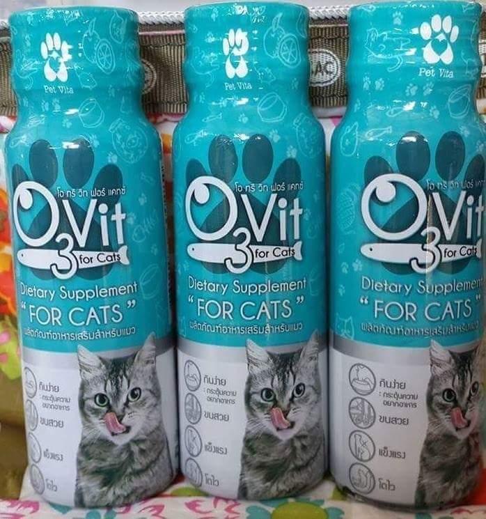 โอทรีวิท วิตามินสำหรับแมว 4ขวด250รวมส่ง