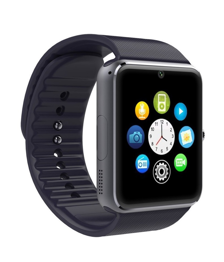 GT08 Smart Watch Bluetooth and Sim Card Support - Black