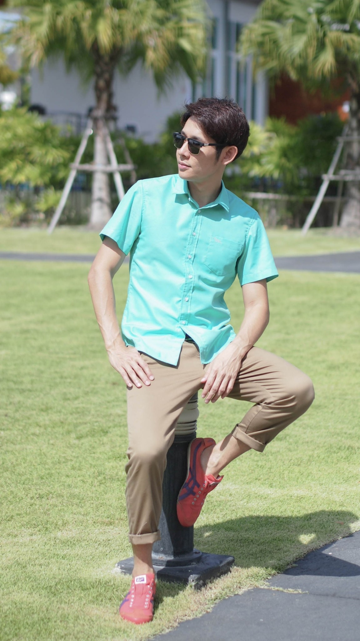 เสื้อเชิ้ตแขนสั้น ชาย NANAPA Shirts S-022