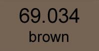 mecha vallejo 69. 034 brown 17 ml.