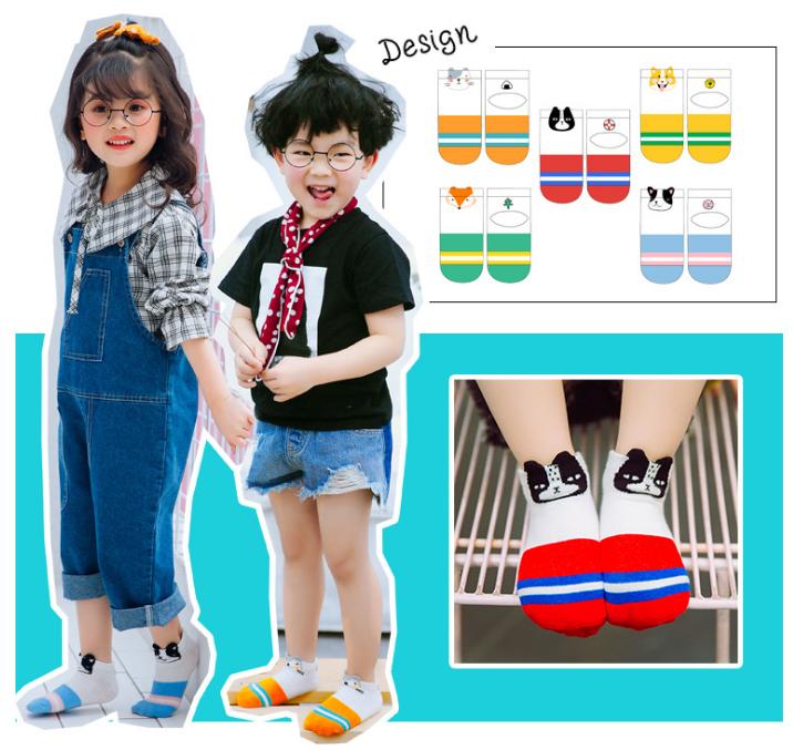ถุงเท้าสั้น คละสี แพ็ค 10คู่ ไซส์ M (อายุประมาณ 3-5 ปี)