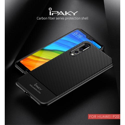 เคส Huawei P20 Pro ยี่ห้อ IPAKY รุ่น Carbon Fiber Texture