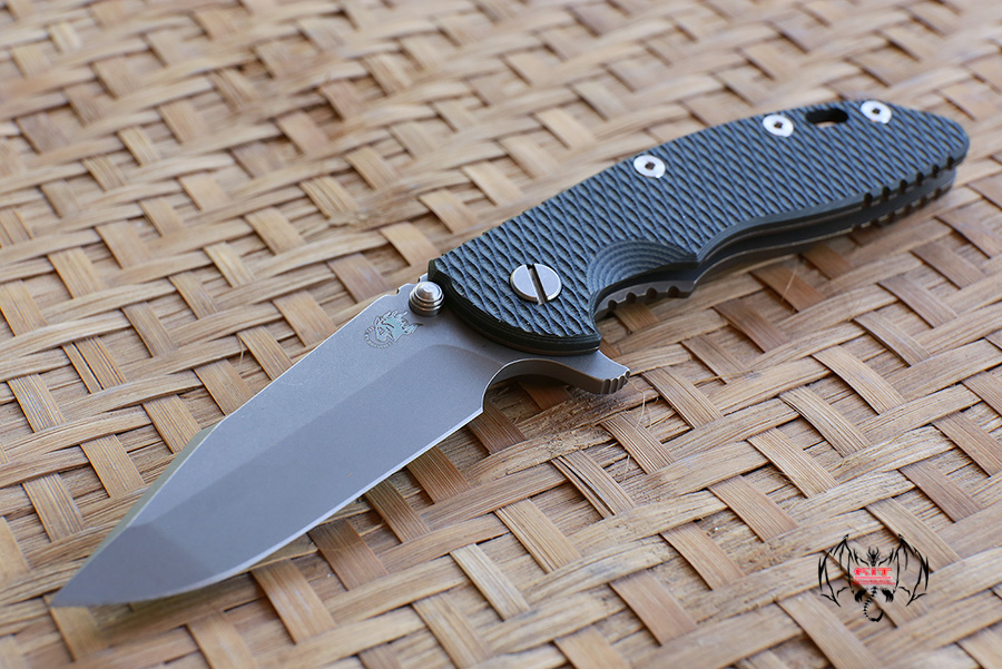 """RHK 3.5"""" Hapoon Spanto Working Finished CPM20CV Bronze Anodize Green/Black G-10"""