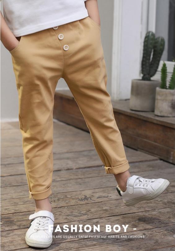 กางเกง สีกากี แพ็ค 5 ชุด ไซส์ 120-130-140-150-160 (เลือกไซส์ได้)